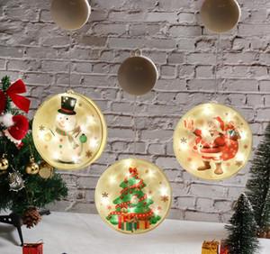 New Designer Christmas decorations Santa Sonwman light Luminous chandeliers Battery ornaments Activity dress up supplies Hanging ornaments