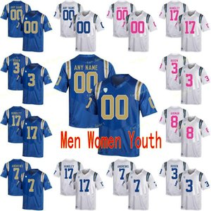 Özel UCLA Bruins Koleji Futbol Formaları 3 Josh Rosen 3 Wilton Speight 4 Bolu Olorunfunmi 5 Kenny Easley Erkek Kadın Gençlik Dikişli