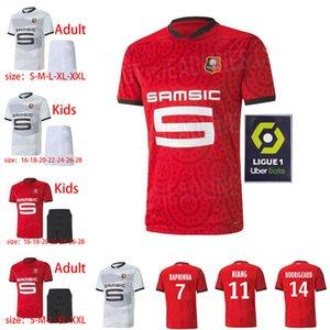 20 21 Stand Rennais Football Team camiseta lejos de Niang Bourigaud Terrier 2020 2021 Maillot de Foot Camavinga Hommes + Children's SOC