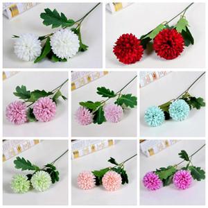 Ev Dekorasyonu Güzel 2 Kafa Gül Şakayık Yapay Ipek Çiçekler DIY Buket Parti Bahar Düğün Dekorasyon Evlilik Sahte Çiçek EEF4026