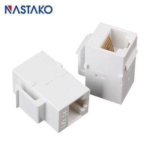 Computer Cables & Connectors Cat5 RJ45 Keystone Jack Socket Cat5e Extension Coupler Ethernet Network LAN Cat 5e Junction Panel Extend Adapte
