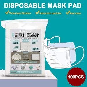 100pcs Halbmaske Einweg Filtermatte Papier für Kinder Erwachsene Alle Gesicht Mund wiederverwendbare Masken Cap Mask Filter Factory Outlet