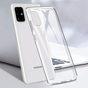 Para Samsung Galaxy Note 20 Ultra S20 + Clear Soft Silicone TPU Funda Atrás Amarillo para Nota10 + Note9 S10 + S9 + Huawei Mate40 Pro + P40