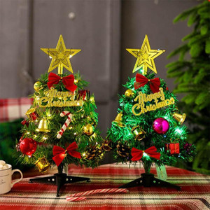 Mini Christmas Tree with LED Stirng Lights Table Desk Decor