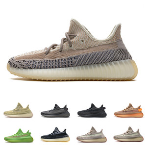 Hombre Kanye West Ash Blue V2 Sneakers Antlia Abez Carbon Yechher Reflexivo Cebra Ashpea Clay Marsh Cream Stetr Static Cinder Zyon Shoes