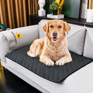 Pet Waterproof Pad Washable Urine Mat Reusable Diaper Bed Mats Puppy Absorbency Sleeping Bed Cushion Pet Accessories sea shipping FWF1244