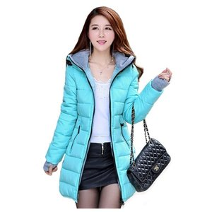 ZOGAA women's long section thick parkas fashion warm slim hooded down thick coat cotton casual jacket 11 colors S-4XL 201020
