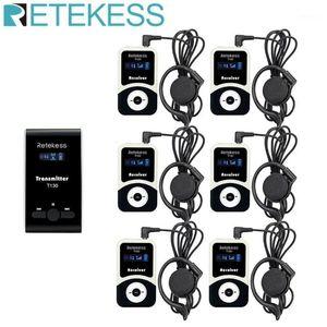 Retekess T130 Wireless Tour Guide System Sistema de micrófono de audio para caminatas Estación de radio de entrenamiento de fábrica de fábrica de fábrica de iglesias1