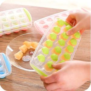 Formas de frutas del cubo de hielo Bandejas la fácil liberación de silicona de grado hielo Pan de chocolate Moldes fabricante del caramelo de la jalea del molde para Bar Herramienta LX3711