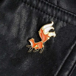 Fashion hot new cute cartoon animal pin enamel pin brooch lapel women men denim collar badge jewelry gift