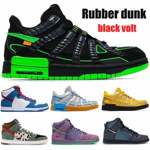 Top Qualität weiß x Gummi dunk Herren-Schuhe schwarz-Volt-Universität Gold-Silber-blau Hund Walker Manturnschuhe Frauen Trainer laufen