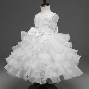 حزب كيد فستان حفلة موسيقية التنورة الزفاف فستان زهرة الأطفال ترويج 7 اللون ريترو الدانتيل الأبيض براعم الكرة بثوب