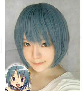 Miki Asako Magical Girl Madoka Short Cosplay Party Wig Hair