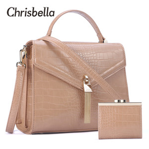 CHRISBELLA Fashion Women Handbags Leather Shoulder Bags Mini Purse Bag Set Large Capacity PU Leather Crossbody Bag Female Bolsos C0121