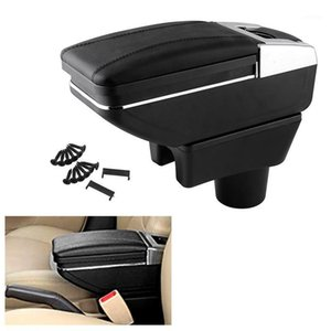 Armrest for Mitsubishi Mirage Mirage 2014-2020 Attrage 2014-2020 Arm Rest Rotatable Storage Box Decoration Car Styling1
