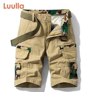 Luulla homens 2020 verão novo casual vintage bolsos clássicos cargas shorts homens outwear moda sarja algodão camuflagem shorts homens q1103