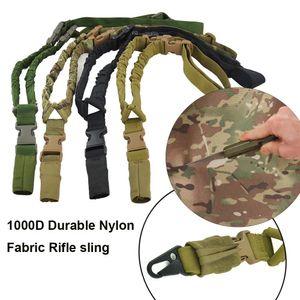 1000d nylon rifle tático arma estilingue à prova d'água e durável 1 ponto único alça de ombro Sling para caça ao ar livre CS jogos cosplay