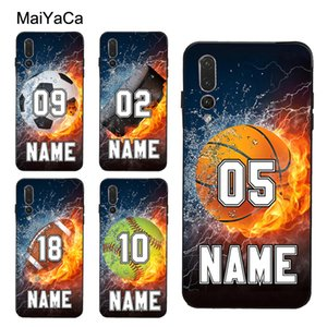 Hockey NAME PERSONALIZED NUMBER BASKETBALL Case For Huawei P30 Pro P20 P40 Mate Lite P Smart 2019 Nova 5T Honor 8A 8X 10i 20