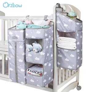 Organisateur de lit bébé Orzbow Sacs suspendus pour sacs de rangement de couches de berceau de nouveau-né Sacs de soins de bébé Organisateur bébé Literie Sacs infirmiers Q0111