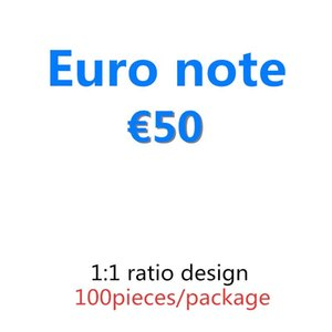 BEST 50 Euro Filmkopie und Bar Pretend Prop Paper Geld Geldbanknote Prop 03 100pcs / Pack Geld Podin