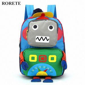 enfants Cartoon 3D Sac robot enfants de mochila sacs à dos cartables des enfants sac à dos de la maternelle Satchel pour bébés garçons et filles 6Z47 #