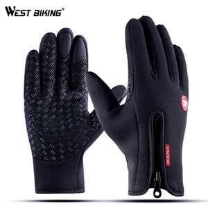 wholesale Cycling Gloves Winter Warm Windproof Bike Gloves Touch Screen Anti-slip Full Finger Luva Ciclismo Bicycle Gloves