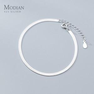 Modian classique 925 Charm en argent sterling Braceket ou pour les femmes Anklet réglable serpent os chaîne haute joaillerie 2020 Conception 1028