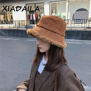 Fashion Thick Wool Winter Bucket Hat Panama Women Panama for Women Fisherman Hat Outdoor Sports Hip Hop Cap Hats Warm Cap Gift