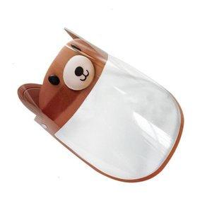 12 Designs Bambino Protettivo Cute Cartoon Shield Shield Pet Anti-FOG Full Face Isolation Mask Maschera Prevenire la visiera trasparente per bambini par