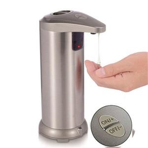 Upgrade 250ML Stainless Steel Automatic Soap Dispenser Adjustable Sensor Shampoo Liquid Soap Dispenser For Bathroom Washroom C0123