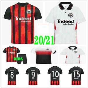 2020 2021 Etintacht Frankfurt Football Jerseys Dostic Paciencia Silva Kohr Ndicka Sow Kamada Paciencia personnalisée Chemise de football pour enfants adulte