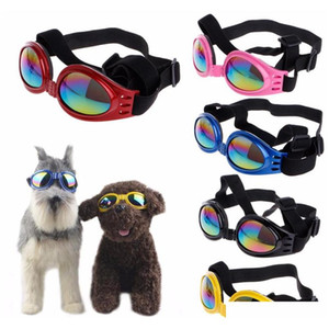 fashion summer pet dog cat foldable goggles uv sunglasses eye protection wear with strap pet products 6 color mgUoX