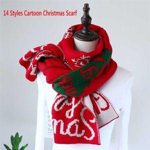 Multi-Farben Chrismas Entworfen Herbst Winter Warmschal Gestriebenes Weihnachtsmuster Schals Frauen Männer Kinder Mode Outdoor-Schals Wraps
