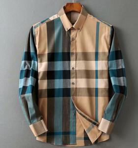 Brand maschile business casual camicia da uomo manica lunga a maniche lunghe a strisce slim fit camisa masculina maschio maschio t-shirt nuovo moda uomo camicia controllato # 10