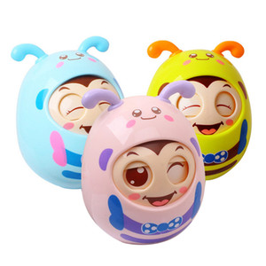 baby toys Multicolor Children's Toys Toddler Children Nodding Rattle Tumbler Educational Doll Toy Random Color
