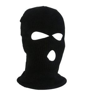 Balaclava Knit 3 Hole Mask Face New Mask Ski Hat Face Beanie Cap Snow Winter Motorcycle Helmet Hat Designer Masks HH9-2975