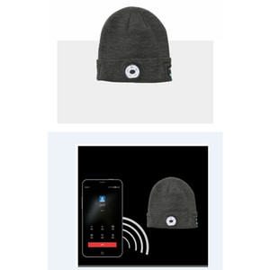 Bluetooth LED Beanie Hat with Light Built-in Stereo Speaker and Mic USB Rechargeable Headlamp Headphone Torch Music Hat Gift fedex