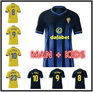 2020 2021 CADIZ Fussball Jerseys Home 20 21 Cadiz CF Black Camisetas de Futbol Fernandez Jovanovic Carmona Garrrido Gelb Akapo Football Hemd