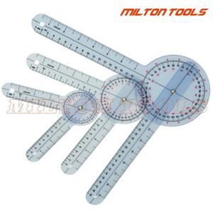 6 pouces + 8inch + 12inch 360 degrés goniomètre de la colonne vertébrale en plastique PROTRACTOR ANGLE Règle médicale Mesurer Tape 3PCS / SET1