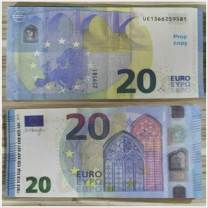 Euro Money Gifts Billet Copy Prop Bar Atmosphere Stage 20 Children Toy Adult Banknote Faux Currency Holiday Trick Party Fest Pkdrc