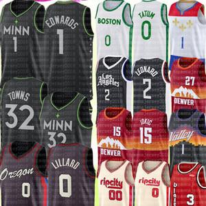 2021 Anthony 1 Edwards Karl-Anthony 32 Towns Jersey Damian 0 Lillard Damian 00 Lillard Jersey Zion 1 Williamson Basketball Jerseys