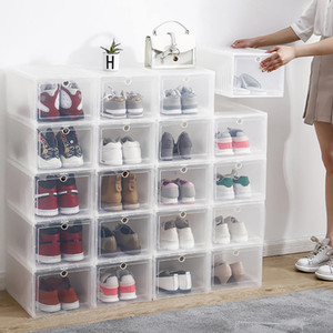 Basketball Shoe Box Large Storage Drawer Type Hard Plastic Simple Sneaker Assembly For AJ Home Storage Box Q0120