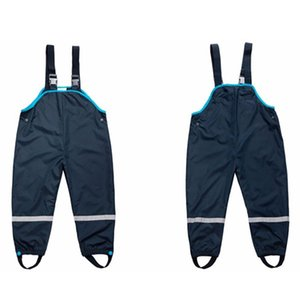 2019 Spring And Autumn Overall Children Boy Girls Clothing Kids Boy Overall Baby 2-7Yrs Boy Girl Overall Waterproof Rain Pants Y200704