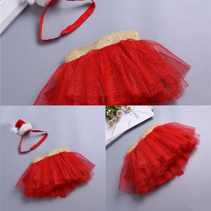 Toddler 0-2y Tutu Skirts Baby Birthday Costume Tulle Skirt Christmas Headband Princess Pettiskirt Child Girls Clothes A339 TLAD