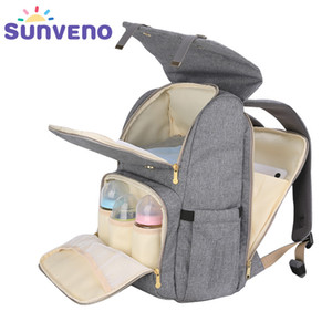 SUNVENO Mode-Windel-Beutel-Mama Umstandswickeltasche große Kapazitäts-Spielraum-Rucksack-Pflegetasche für Babypflege C1008