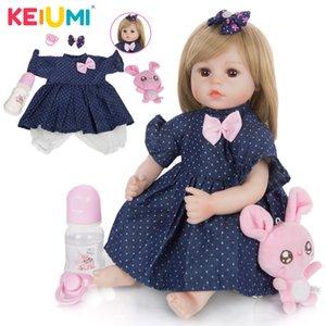 Keiumi 2020 Новый дизайн Reborn Reborn Baby Doll Мягкая Slicone Ткань Фаршированные Живые новорожденные Bebe Кукла Игрушка для Детских День Рождения подарки LJ201031