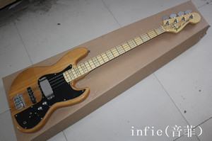 2019 Livraison gratuite Jazz Bass Guitare 4 Cordes Jazz Electric Bass Guitare avec micros Vintage Active En stock