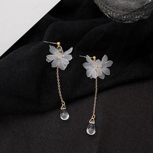 New Bohemian Handmade Acrylic Earrings For Women Fashion Resin Flower Dangle Drop Earring Wedding Earrings MD2