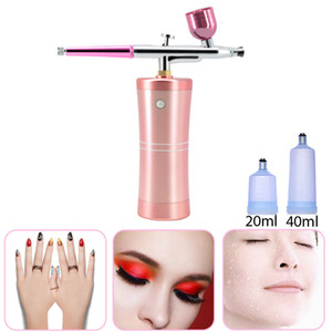 Beauty Nozzle Dual Action Tattoo Airbrush Kit Air Brush Compressor Oxygen Jet Air Brush Paint Spray Gun for Nail Art Cake Hydration Tool