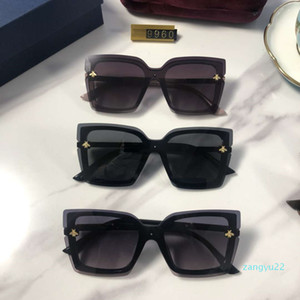 Toptan-Gelmesi Bayan Tasarımcı Güneş Gözlüğü Lüks Güneş Kadınlar Beach Gözlük Gözlük UV400 Arı 9960 5 Renkler Yüksek Kalite Kutusu Ile